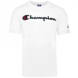 Champion T-Shirt Girocollo Bianco Uomo