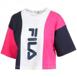 Fila T-Shirt Bicolor Blu Donna