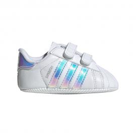 Adidas Originals Sneakers Superstar Crib Bianco Argento Baby