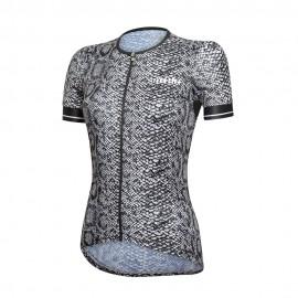 Rh+ Maglia Ciclismo Donna Fashion Python Nero Donna
