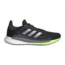 ADIDAS scarpe running solar glide 3 core nero silver met uomo