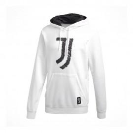 Adidas Felpa Calcio C/Capp Juve Dna Graphic Bianco Nero Uomo