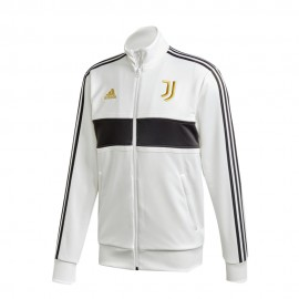 Adidas Felpa Calcio Juve 3 Stripes Poly Bianco Nero Uomo