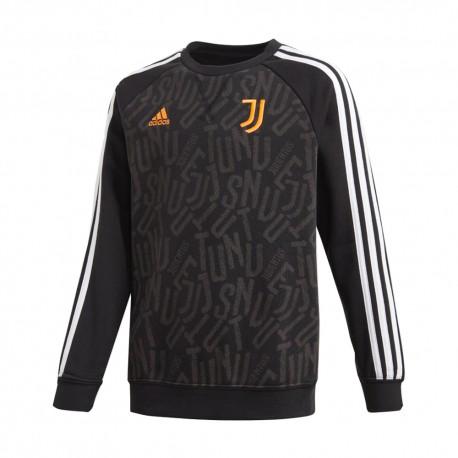Adidas Felpa Calcio Juve Crew Nero Bianco Bambino