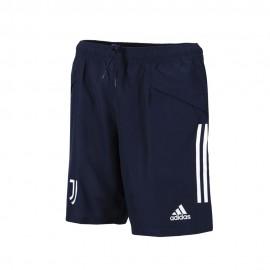 ADIDAS pantaloncini calcio juve downtime blu bianco uomo