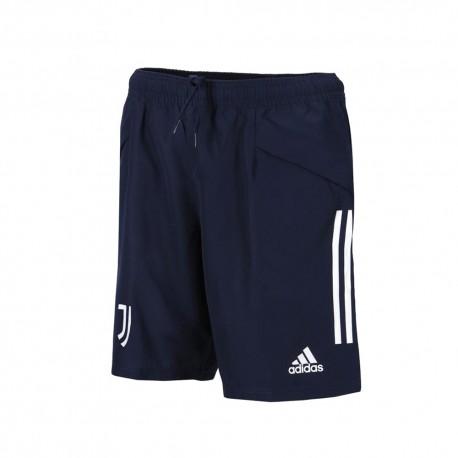Adidas Pantaloncini Calcio Juve Downtime Blu Grigio Uomo