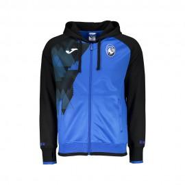 Joma Sport Felpa Calcio C/Capp Zip Atalanta Azzurro Nero Bambino