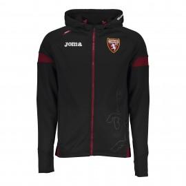 Joma Sport Felpa Calcio C/Capp Zip Torino Training Nero Uomo