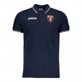 Joma Sport Polo Calcio Torino Free Time Blu Uomo