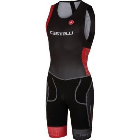 Castelli Body Triathlon Tri Itu Suit Black/Red