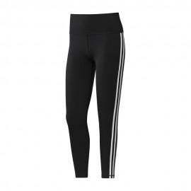 ADIDAS leggings sportivi 7/8 3 stripes nero donna