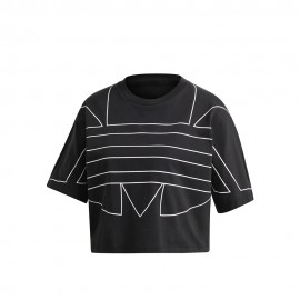 ADIDAS originals t-shirt crop nero donna