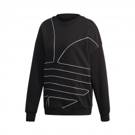 ADIDAS originals felpa girocollo big logo nero donna