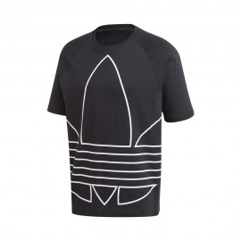 ADIDAS originals t-shirt big trefoil nero uomo