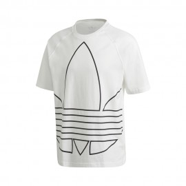 ADIDAS originals t-shirt big trefoil bianco uomo