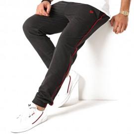 New Era Pantaloni Nba Piping Chicago Grigio Rosso Uomo