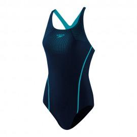Speedo Costume Intero Piscina Tech Placement Blu Pool Donna