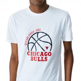 New Era Maglia Basket NBA Chigaco Bianco Arancio Uomo