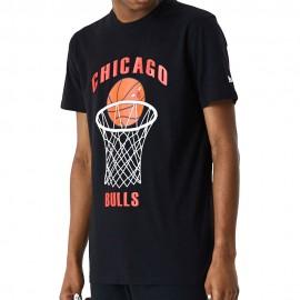 New Era Maglia Basket NBA Chigaco Nero Arancio Uomo