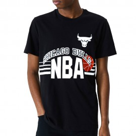 New Era Maglia Basket NBA Chigaco Throw Back Nero Uomo