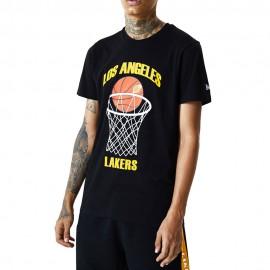 New Era Maglia Basket NBA Lakers Nero Giallo Uomo