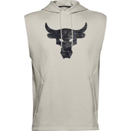 Under Armour Canotta Palestra Con Cappuccio Project Rock Bianco Uomo