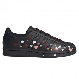 ADIDAS originals sneakers superstar cuore nero donna