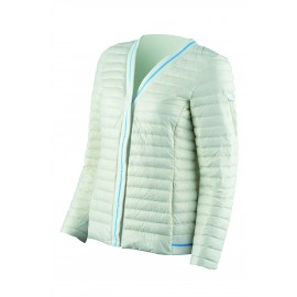 Iceport Giubbino Cardigan In Piuma Bianco Donna