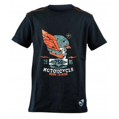 Get Fit T-Shirt Teschio Nero Bambino